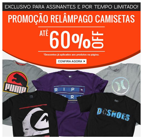 Promoção Kanui  Promoção Relâmpago Camisetas  Até 60% OFF por Tempo ... 3b0133164cd77