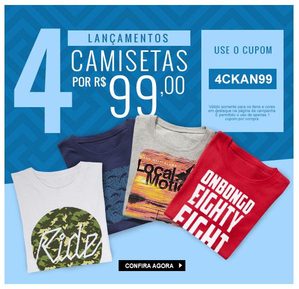 92a6bc15c9 Promoção Kanui  Top Promos  4 Camisetas por R 99
