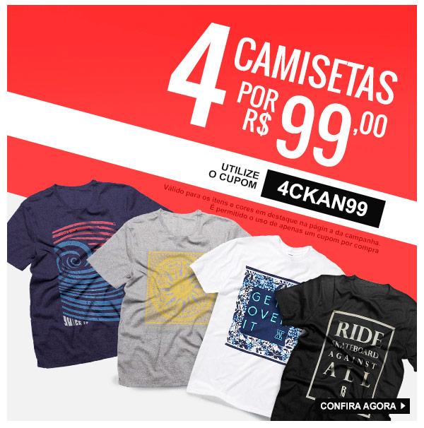 ccfe65cc79 Promoção Kanui  Neste Email  4 Camisetas por R 99