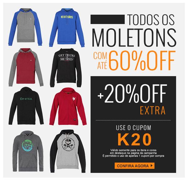 Promoção Kanui  TODOS Moletons até 60% Off + 20% Off EXTRA com Cupom ... deaf35976f421