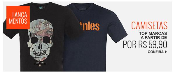 87ee60d411 Lançamentos  Camisetas top marcas a partir de 59