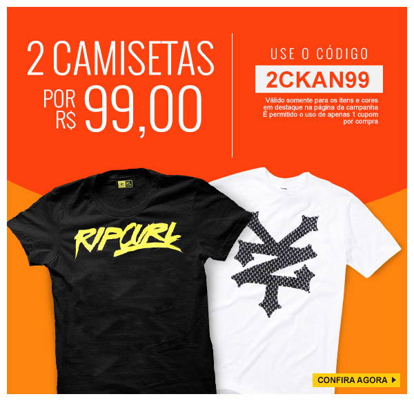 7958f80222 Promoção Kanui  2 Camisetas por R 99
