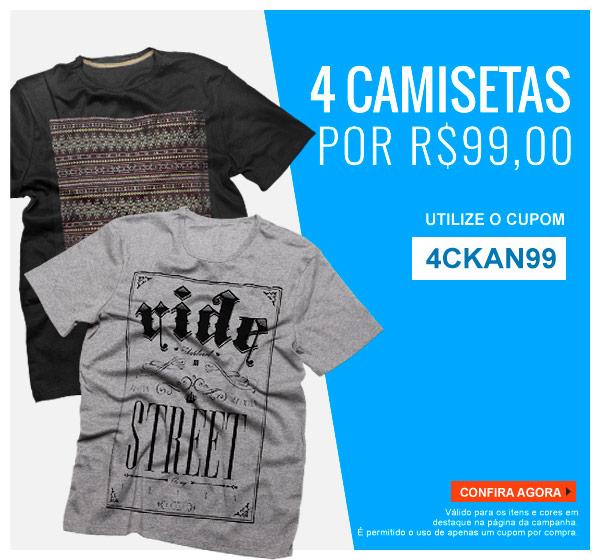 ae4c997ee6 Promoção Kanui  Promoções  4 Camisetas por R 99
