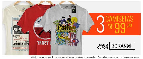 3 Camisetas por 99 - bandup