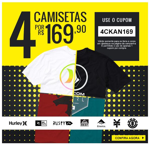 fbe1eba18a Promoção Kanui  TOP Promo  4 Camisetas por R 169