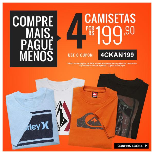 Promoção Kanui  Compre Mais Pague Menos  4 Camisetas por R 199 67604cda5d594